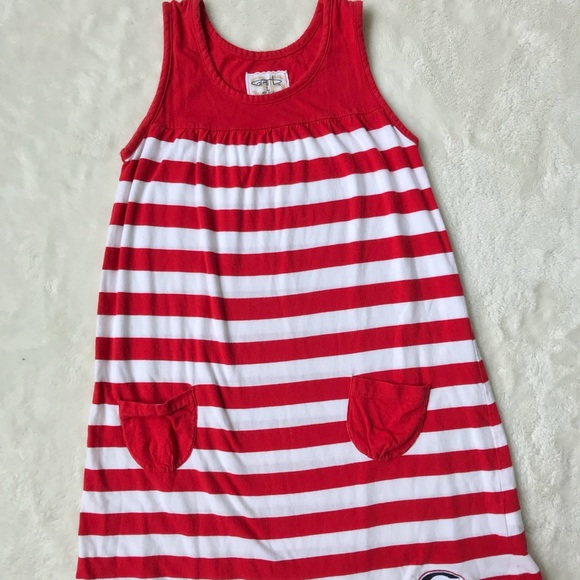 GARB Other - Red and White Stripped University of Georgia Dress